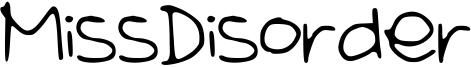 MissDisorder Font
