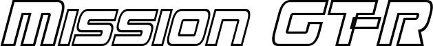 Mission GT-R Condensed Hollow Italic.ttf