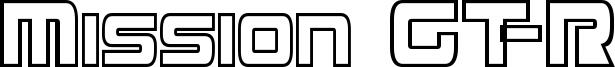 Mission GT-R Condensed Hollow.ttf