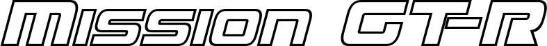 Mission GT-R Hollow Italic.ttf