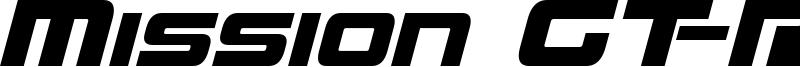 Mission GT-R Italic.ttf