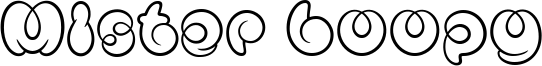 Mister Loopy Font
