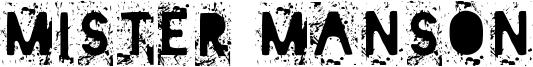 Mister Manson Font