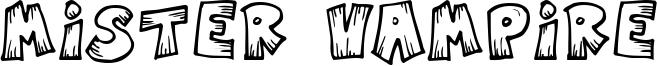 Mister Vampire Font