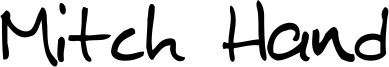 Mitch Hand Font
