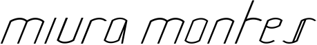 Miura Montes Font