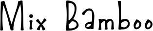 Mix Bamboo Font
