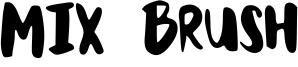 Mix Brush Font
