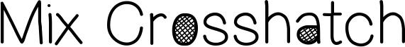 Mix Crosshatch Font