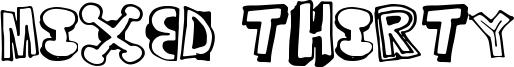 Mixed Thirty Font