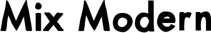 Mix Modern Font