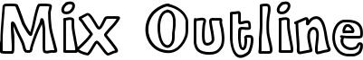 Mix Outline Font