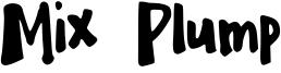 Mix Plump Font