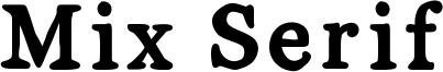 Mix Serif Font