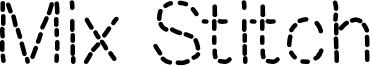 Mix Stitch Font