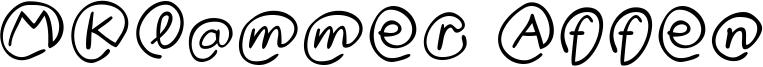 MKlammer Affen Font