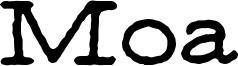 Moa Font