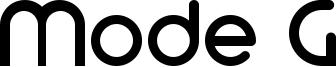 Mode G Font