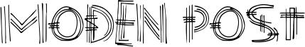 Moden Post Font