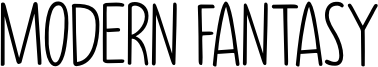 Modern Fantasy Font