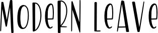 Modern Leave Font
