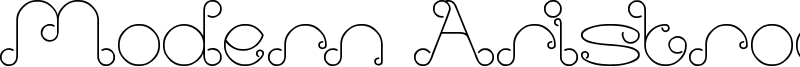 Modern Aristrocrat Font