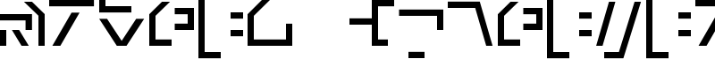 Modern Cybertronic Font