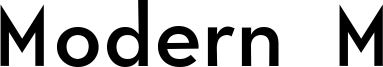 Modern M Font
