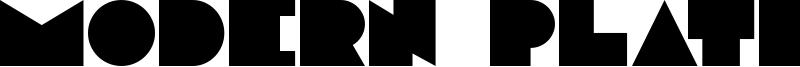 Modern Plate Font