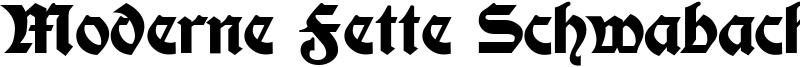 Moderne Fette Schwabacher Font