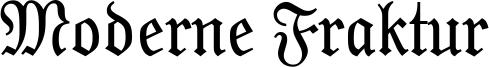 Moderne Fraktur Font