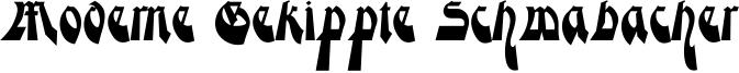Moderne Gekippte Schwabacher Font