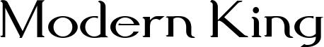 Modern King Font