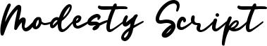 Modesty Script Font