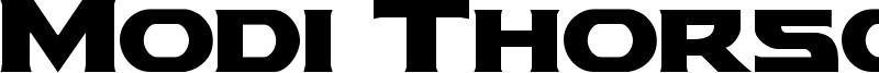 Modi Thorson Font