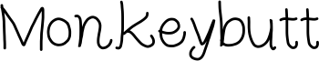 Monkeybutt Font