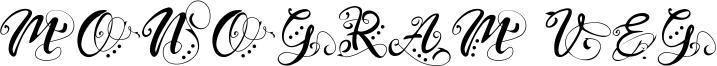 Monogram Veg Font
