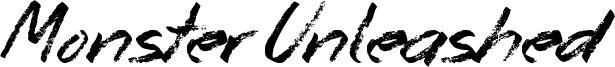 Monster Unleashed Font