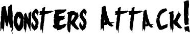 Monsters Attack! Font