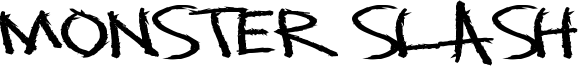 Monster Slash Font