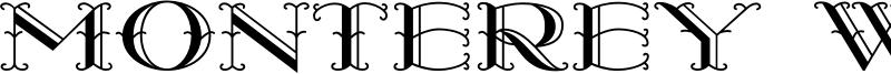 Monterey Wide Font
