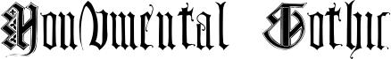 Monumental Gothic Font