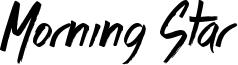 Morning Star Font