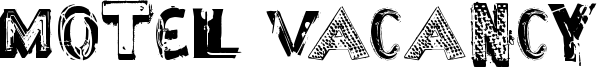 Motel Vacancy Font