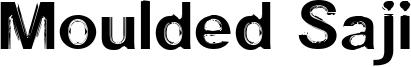 Moulded Saji Font
