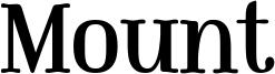 Mount Font
