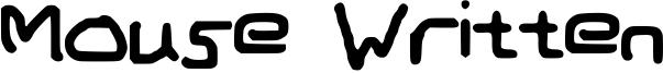 Mouse Written Font
