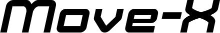 Move-X Bold Italic demo.otf