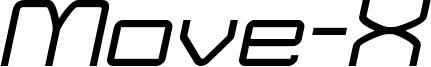 Move-X Italic demo.otf