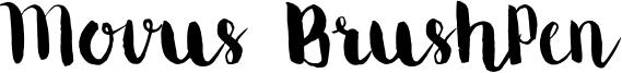 Movus BrushPen Font